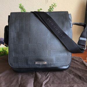 Burberry Emmet Leather Messenger Bag 💼